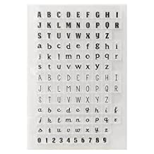 Hestio ABC English Letters Numbers Silicone Stamp Seal DIY Scrapbooking Album Paper Cards