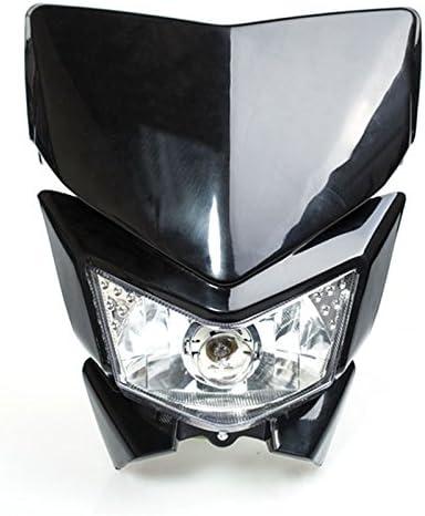 Motorcycle Headlight Mask Modification Part STREETFIGHTER Dirt Bike Head Lamp Fairing BLK White