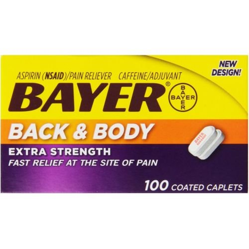Bayer Extra Strength Back and Body Caplets - 100 per pack -- 24 packs per case.