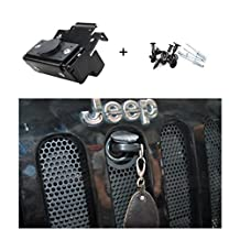 E-cowlboy Hood Lock Anti-Theft Kit Assembly For 2007-2016 Jeep Wrangler JK & Unlimited 2 Door 4 Door Anti-Theft Alarm System 82213051-AB