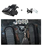 E-cowlboy Hood Lock Anti-Theft Kit Assembly For 2007-2017 Jeep Wrangler JK & Unlimited 2 Door 4 Door Anti-Theft Alarm System 82213051-AB
