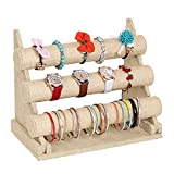 CHEZMAX 3 Tier Detachable Jewelry Holder for Bracelet Necklace Watch - Linen
