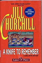 A Knife to Remember (Jane Jeffry Mysteries, No. 5)