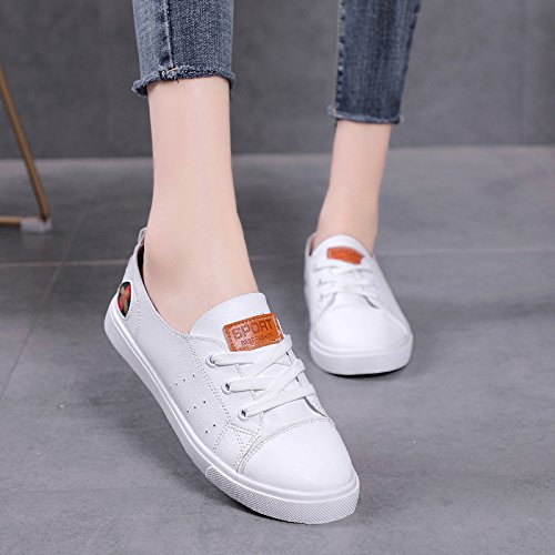 Pretty Mujer De Transpirable de Bottomed Verano KPHY Blanco Zapatos 39 Zapatos Shoes Flat Mujer Shoes Casual Casual dgqRwtxwO