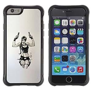 LASTONE PHONE CASE / Suave Silicona Caso Carcasa de Caucho Funda para Apple Iphone 6 PLUS 5.5 / tomb character pc game chick guns