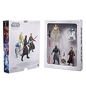 STAR WARS Digital Release Commemorative Collection Box Set - Episode 1 The Phantom Menace - R2-D2, Darth Maul, Padme Amidala, Battle Droid (pack of four 3.75 inch action figures)