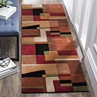 Safavieh Rodeo Drive Collection RD868A Handmade Modern Abstract Art Multicolored Wool Runner (26 x 8)