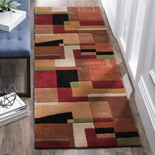 - Safavieh Rodeo Drive Collection RD868A Handmade Modern Abstract Art Multicolored Wool Runner (2'6