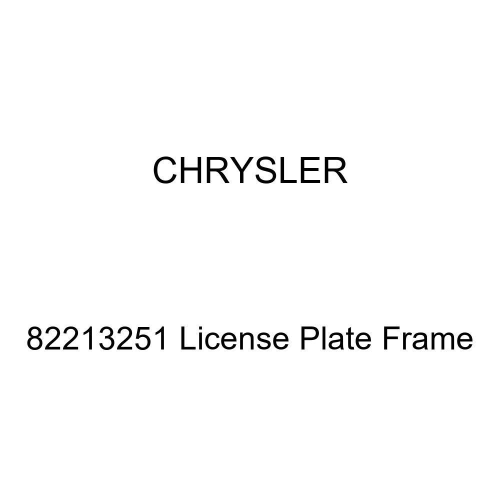 Chrysler Genuine 82213251 License Plate Frame