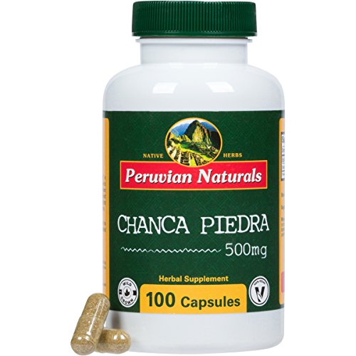 Peruvian Naturals Chanca Piedra 500mg - 100 Capsules (Stonebreaker) | Digestive Supplement for Kidney and Urinary Health