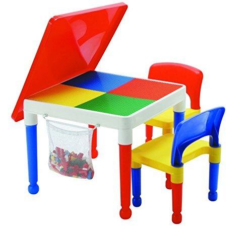 LibertyHouseToys Mehrzweck-Aktivität Tisch und 2Stühle mit Aufbewahrungstasche, Multi, 51x 51x 43cm Liberty House Toys 652