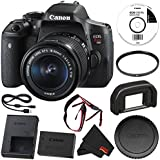 6Ave Canon EOS Rebel T6i DSLR Camera with EF-S 18-55mm f/3.5-5.6 IS STM Lens 0591C003 + 58mm UV Filter + MicroFiber Cloth Bundle