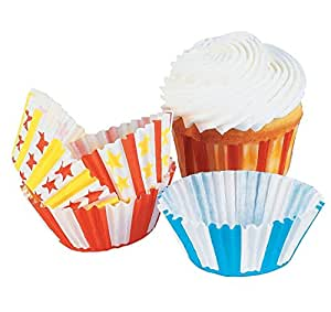 100 Pc Big Top Carnival Cupcake Baking Cups [Kitchen]