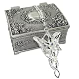 All Products : Ruimeng Lord of the Rings Arwen's Evenstar Earrings with Cherry Blossom Heart Jewelry Box,Lord of the Rings Earrings,Great Gift for The Lord of the Rings Fans Christmas Gifts