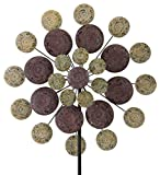 Regal Art & Gift Kinetic 32 inches x 9.5 inches x 85 inches Stake - Sage Medallion Garden Stakes