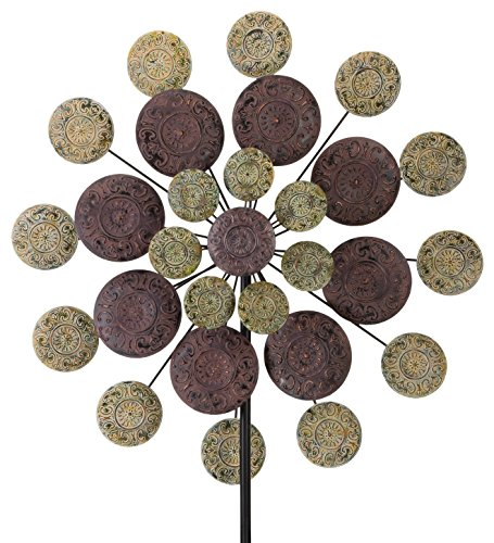 Regal Art & Gift Kinetic 32 inches x 9.5 inches x 85 inches Stake - Sage Medallion Garden Stakes by Regal Art & Gift