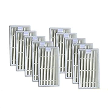 REFURBISHHOUSE Paquete de 10 Filtro Hepa Superior para Ilife V3S V5 V5S V3S Pro Aspirador Robótico