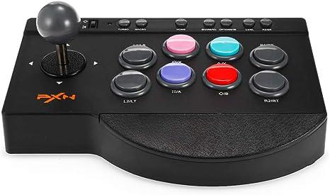 JSX Controlador de Juegos con Cable USB Joystick Fighting Stick para PS3 / PS4 / Xbox One/PC Gaming Controle Handle Controlle: Amazon.es: Deportes y aire libre