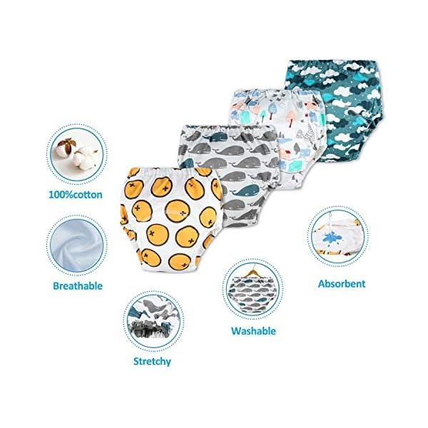 Flyish - Mutande per imparare a usare il vasino, per bambini e bambine da 1 a 4 anni, confezione da 4 Ragazzi. 12 Mesi 2