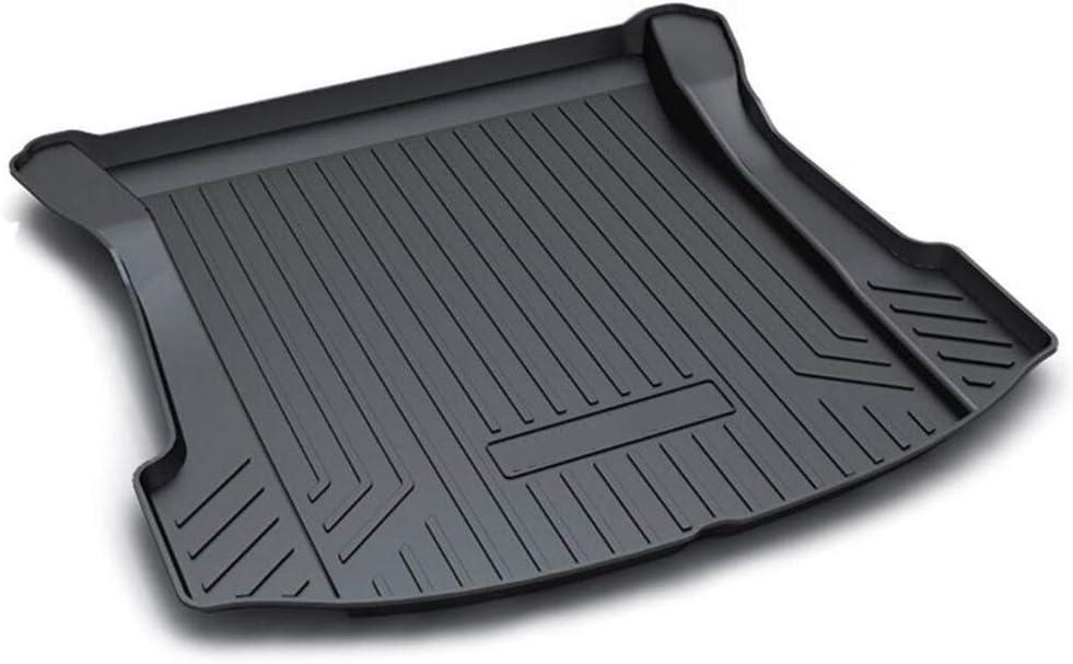 Aiqiying Cargo Liners,Black Heavy DutyRubber Waterproof Rear Cargo Tray Trunk Floor Mat Protector Custom Fitfor Tesla 3