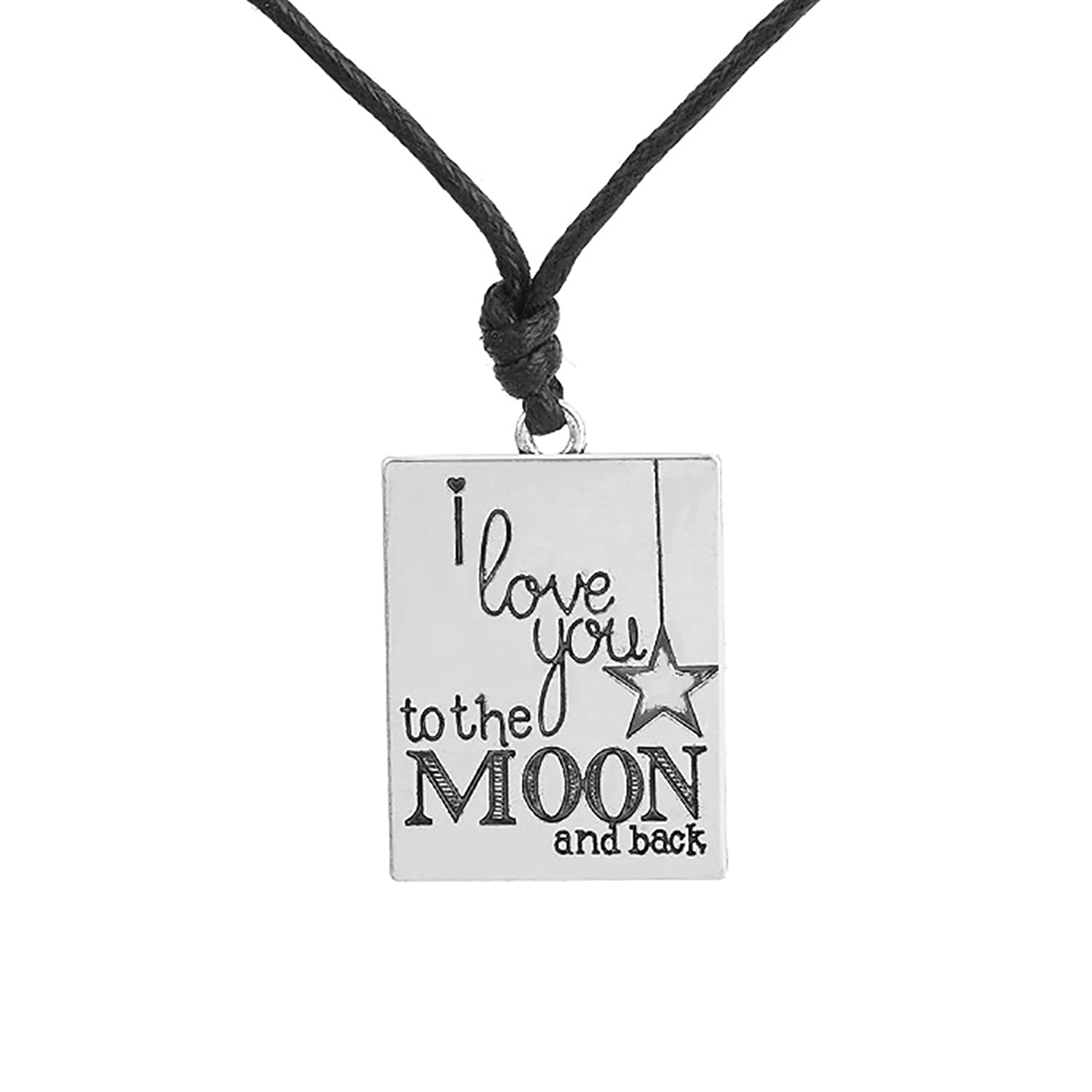 "Fashion New-Designed Necklace with 'I love you to the moom and back"" Words and Star Symbols Jewelry"