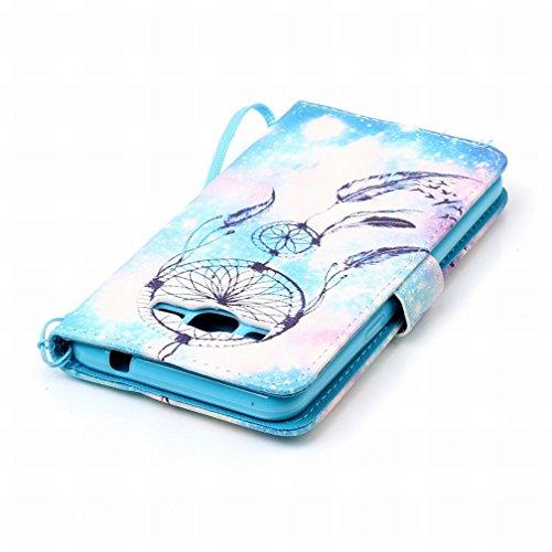 Yiizy Samsung Galaxy Grand Prime G530 Funda, Noche Campanula Diseño Solapa Flip Billetera Carcasa Tapa Estuches Premium PU Cuero Cover Cáscara Bumper Protector Slim Piel Shell Case Stand Ranura para T