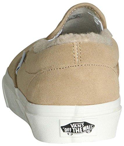 Adults' on Classic Slip Trainers Canvas Vans Khaki True White Unisex 5TxEa