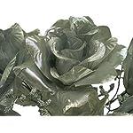 4-Bushes-SILVER-Open-Rose-7-Artificial-Silk-Flowers-15-Bouquet-039SL