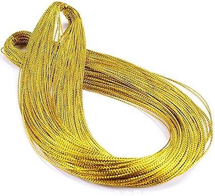 1mm Hilo Cordón Trenzado Metálico Cadena de 100 Metros Manualidades Fabricación de Joyas