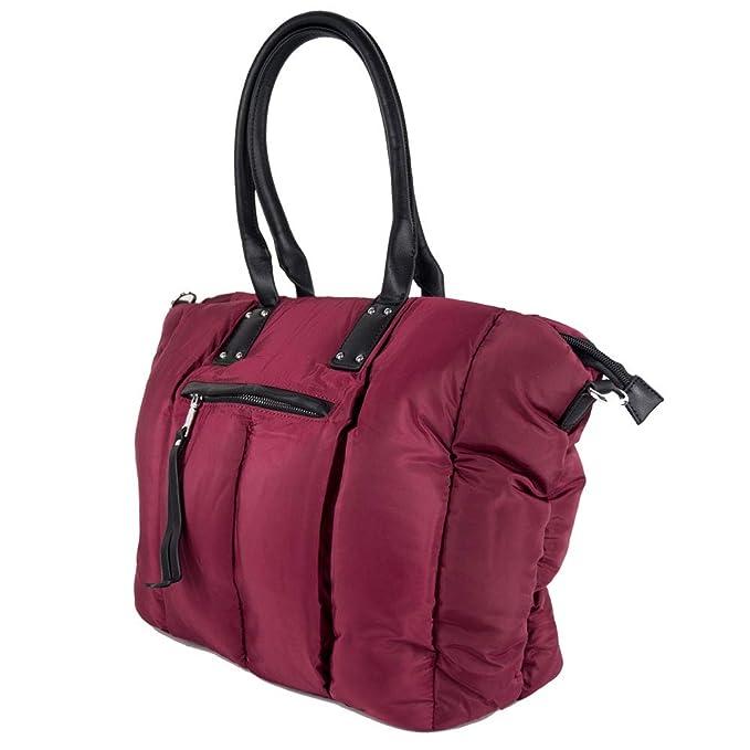 Borsa piumino donna trapuntata grande capiente imbottita da signora con tracolla zip invernale a spalla shopping bag giornaliera tutti i giorni sera