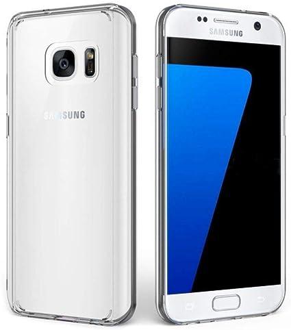 XTCASE Funda Samsung Galaxy S7 Silicona Transparente, Ultrafina ...