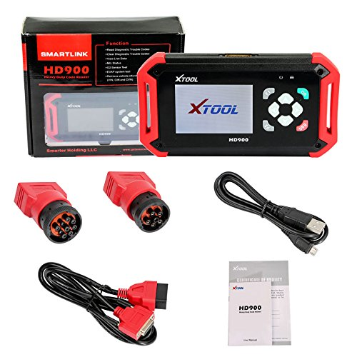 Xtool PS201 Heavy Duty OBD2 Scanner Auto Scanner Diagnostic Scan Tool Code Reader for Diesel Vehicles Truck 6/9 pin, J1587 J1708 J1939 Class 4 - 8