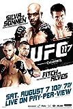Pyramid America UFC 117 Anderson Silva vs Chael Sonnen Sports Poster 12x18 inch