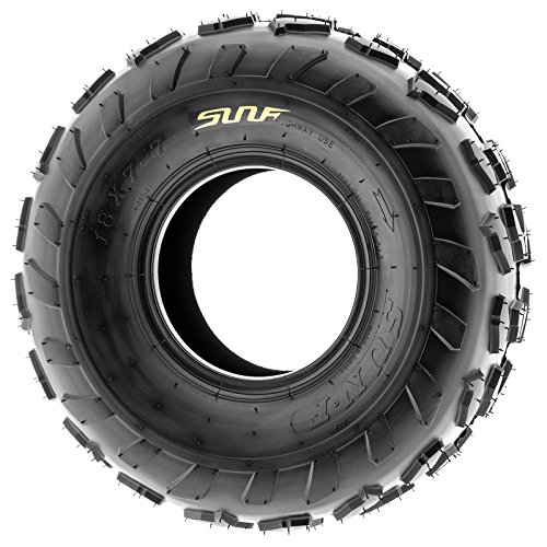SunF 18x7-7 18x7x7 ATV UTV A/T Quad Race Replacement 4 PR Tubeless Tires A007, [Set of 2] by SunF (Image #3)