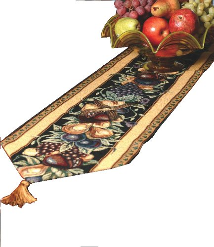 Manual Table Runner, Old World Italy w/Tassels ()