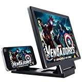 Tipbee Screen Magnifier, 3D HD Movie Amplifier with Foldable Holder Stand for All Smartphones (Black)