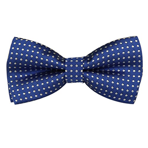 Black FASINUO Boys Children Kids Solid Color Satin Banded Bow Ties