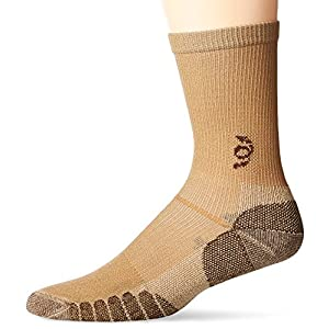 TravelSox The Best Dress and Travel Crew Compression Socks TSC, Khaki, Medium