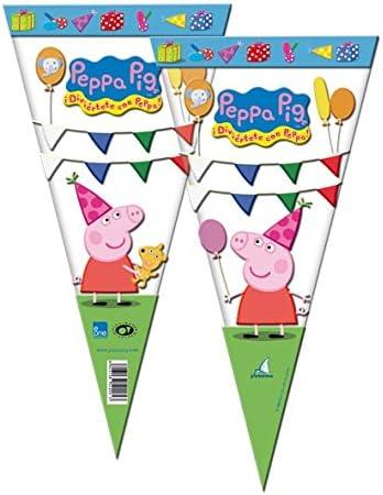 Peppa Pig - Bolsa cono 20x40 cm, pack 100 unidades (Verbetena ...