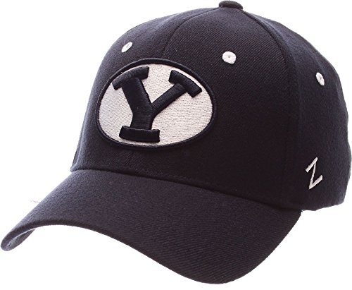 ZEPHYR MEN'S BYU COUGARS ZH ZWOOL STRETCH FIT HAT NAVY