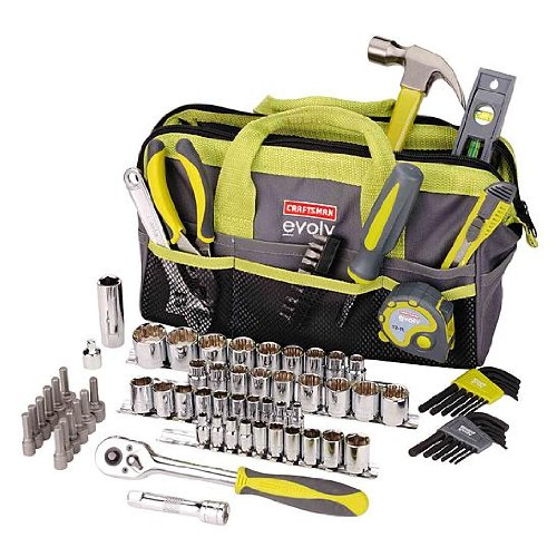 Craftsman Evolv 83 Pc. Homeowner Tool Set W/bag (Tool Bag Set)