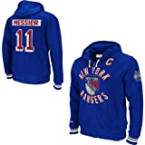 NHL Mitchell & Ness 8484 Repeat Fleece Hoody Hoodie New York Rangers Medium MD