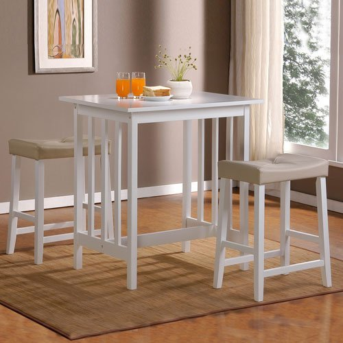 HomeHills White Three Piece Breakfast Set