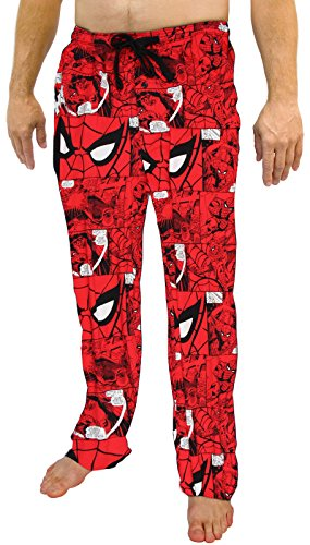 Marvel Spiderman All Over Print Men's Red Sleep Pants Pajamas (Medium)]()