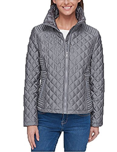 - Marc New York Ladies' Quilted Jacket (Gray, L)