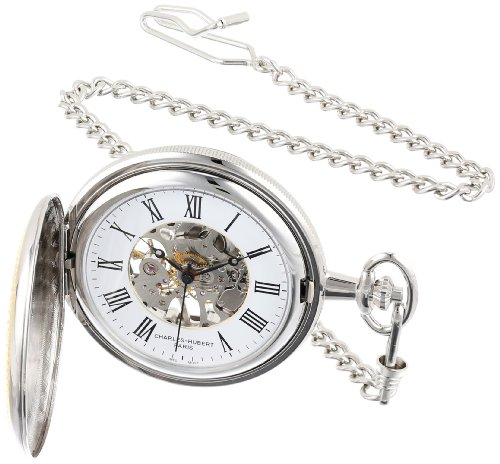 Charles Hubert 3859 Two-Tone Mechanical Pocket Watch