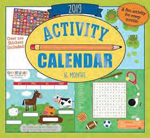 2019 Kid's Activity Wall Calendar - 16-Months
