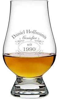 Herz & Heim® Whiskeyglas (Bohemia) - Motiv: Geniesser - mit ...