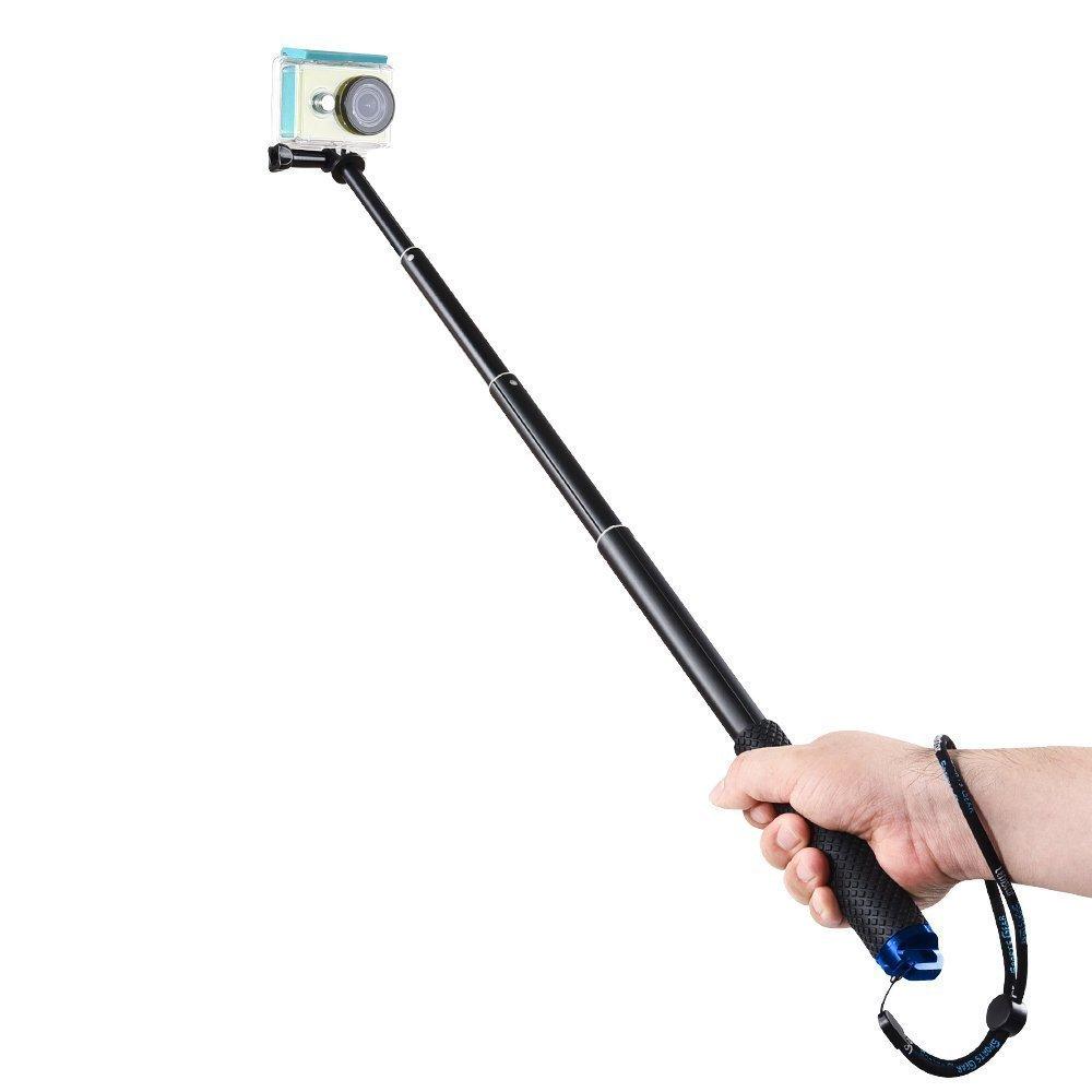 MyArmor Rubberized Aluminum Hand Grip Waterproof Selfie Stick Extendable (36 inch) Telescopic Handheld Pole Monopod for GoPro HD Hero 5/4/3+/3/2/1