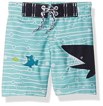 Gymboree Baby Toddler Boys' Shark Swim Trunk, Multi, 6-12